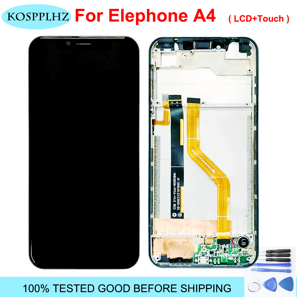 "For Elephone A4 LCD Display and Touch Screen 5.85"" Mobile Phone Accessories For Elephone A4 pro LCD +Tools +Adhesive"