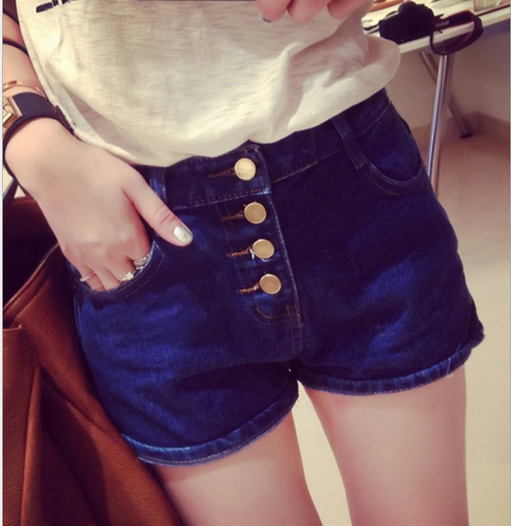 New Fashion Denim Shorts for Women in 2016 Summer High Waisted Vintage Slim Elastic Jeans Shorts Summer HOT Pants