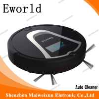 Eworld M884 Short PetHair Robotic Vacuum Cleaner With Mop Remote Controler And Cleaning Brush