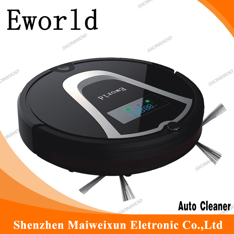 Eworld  M884 Short PetHair Robotic Vacuum Cleaner With  Mop Robot Remote Controler Robot Fregasuelos For House Cleaning Floor free to europe eworld 2016 auto vacuum cleaners with robot vacuum cleaner mop with noise level less 50 db