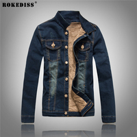 ROKEDISS 2017 New Arrival Denim Jacket Men Fashion Brand Clothing Jeans Jackets Male Winter Thicker Casual