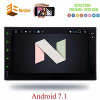 Universal Double Din Car Stereo 7 1024600 Touch Screen Head Unit Android 7 1 OCTA CORE
