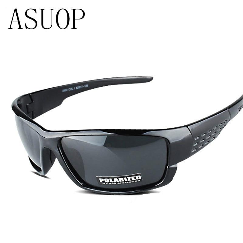 ASUOP 2019 new fashion heren gepolariseerde zonnebril klassieke merk ontwerp vierkante damesbril UV400 retro zwarte veiligheidsbril