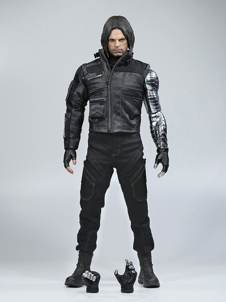 1/6 Winter Soldier Bucky Barnes With Mechanical Arm Captain American Civil War Action Figure Combat Suit Version Box Set victorian america and the civil war