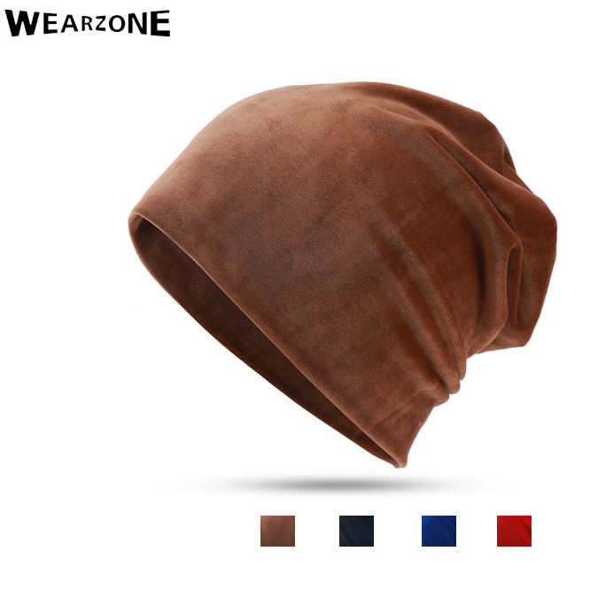 Wearzone Fashion Unisex Velvet Women Winter Hat Mens