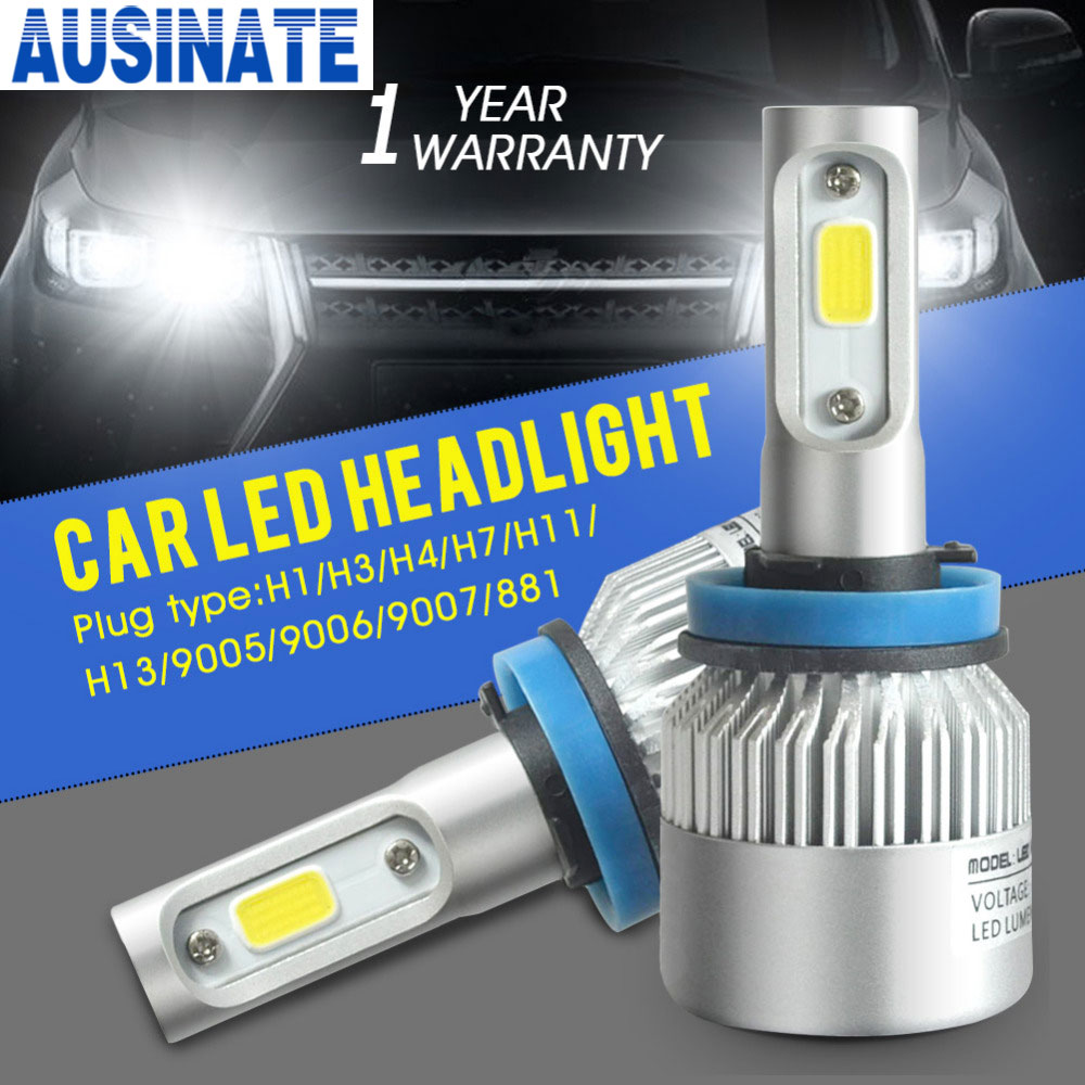 H11 H8 H9 LED bilstrålkastarlampa 72W 8000lm 6500k bil dimljus auto strålkastare dimljuslampor