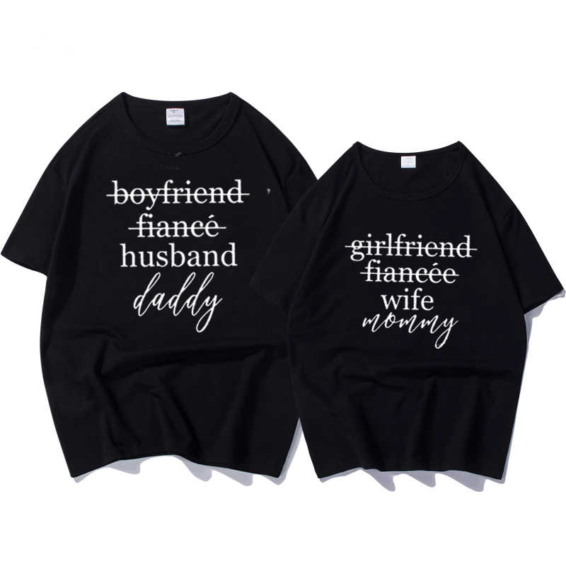 4f93a69b31 Detail Feedback Questions about Female T shirtt Couples T shirts Funny  Matching Wedding Top Tee Couple Tshirt Cotton for Lover Honeymoon Shirts  Women's ...