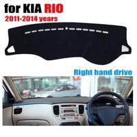 Alfombrilla para salpicadero de coche para KIA RIO 2011-2014 años de mano derecha dashmat pad dash covers auto accesorios para el tablero