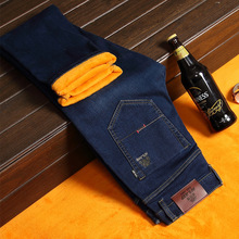 2016 New Men Activities Warm Jeans High Quality Famous Brand Autumn Winter Jeans warm flocking warm soft men jeans