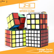 Shengshou Ledgen 2x2 3x3 4x4 5x5 Magic Cube 2x2x2 3x3x3 4x4x4 5x5x5 Speed Cube Puzzle Cubo Magico Black Toy For Children(China)