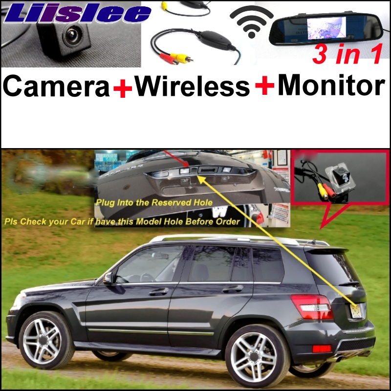Liislee For Mercedes Benz GLK Class X204 Origial Hole Car Camera & Wireless Receiver & Mirror Screen Rear View Parking System auto fuel filter 163 477 0201 163 477 0701 for mercedes benz