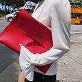 Moda sólidos mulheres de couro saco de embreagem das mulheres envelope saco de embreagem fêmea noite saco Embreagens Bolsa frete grátis ND013