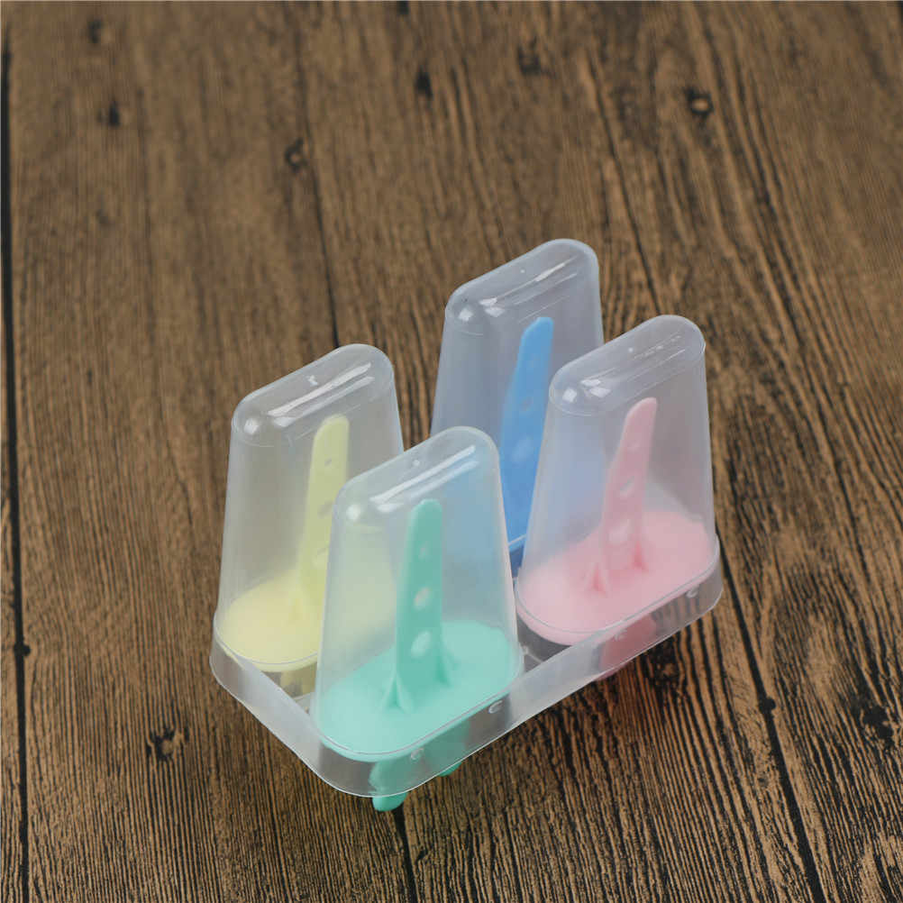 1*4 moldes de picolé de sorvete cozinhar ferramentas retângulo em forma de moldes de cozimento de pop de sorvete congelado diy reutilizável 11.8*6.5*10cm