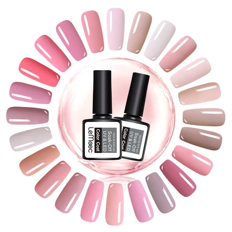 LEMOOC 8 мл Гель-лак для ногтей розовая серия замачиваемый УФ/светодиодный Гель-лак для ногтей Полупостоянный УФ Гель-лак для ногтей 31 цвет
