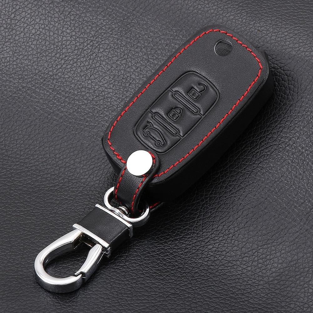Автомобильный складной кожаный чехол для ключей для LADA Sedan Largus Kalina Granta Vesta X-Ray XRay брелок-чехол для дистанционного ключа защитный набор