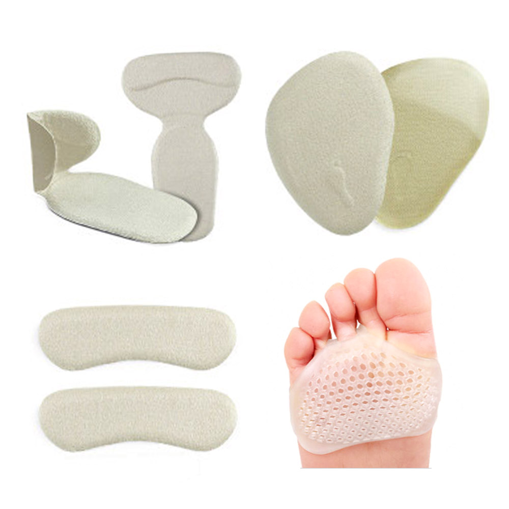 4 Pairs High Heels Pads Back Heel Shoes Cushion Inserts Foot Care Forefoot Half Yard Invisible Gel Insoles 2 pairs silicone gel insoles for shoes foot care cushion pads back heel inserts grip liner high heel protector