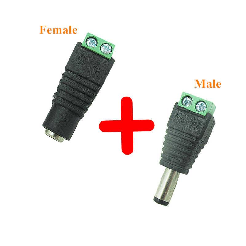 זכר ונקבה Dc תקע חשמל 5.5X2.1 Mm 12 V 24 V מתאם תקע טלוויזיה במעגל סגור 5.5X2.1