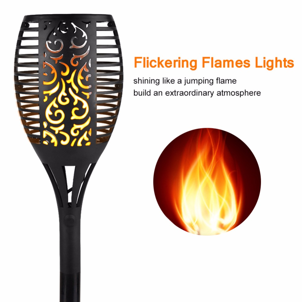 High Quality Solar Flame Lawn Lamp Hot Led Dancing Flame Light Waterproof Outdoor Garden Decor Lamp New Year Christmas