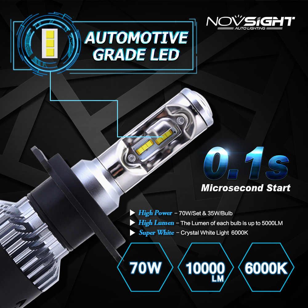 Novsight 12 V H1 Led H7 led H4 H11 H8 רכב פנס נורות 10000LM אוטומטי 9005 HB3 9006 HB4 מכוניות פנס ערפל אור הנורה