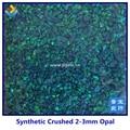 (20 gramas) Por Atacado 1.5mm-160 mesh Migalha Opala Sintética/opala esmagado/Material Da Arte do Prego