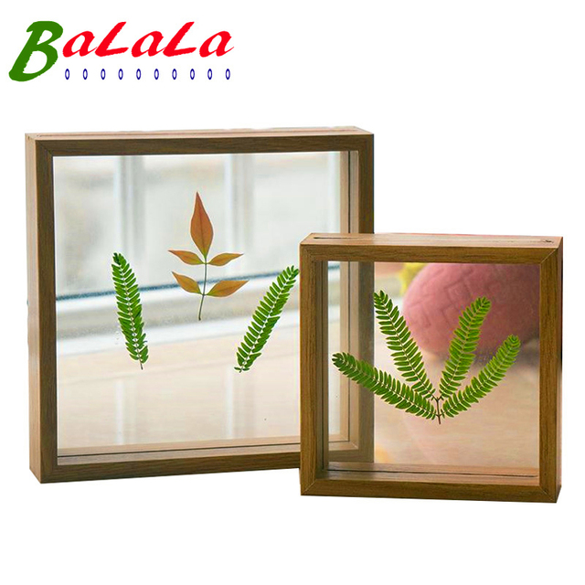 7 x 7inch double sided frame handmade wooden diy picture frame wall or table photo posters - Double Frames