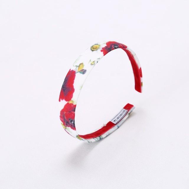 Girls' Red Floral Cotton Headband