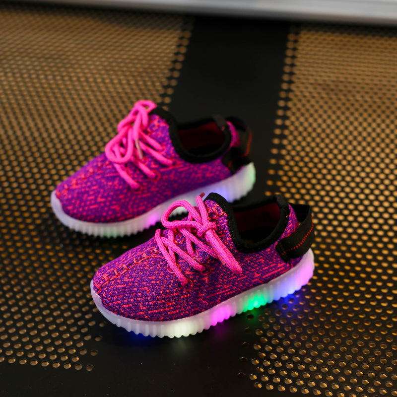 Children Luminous Sneakers For Boys And Girls Glowing Sneakers Led Shoes Kids Fahion Sports Lights Shoes SH19046