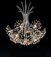 Modern Crystal Lighting Chandelier Living Room Modern Led Crystal Chandelier Kitchen Leaf Crystal Chandelier Bedroom