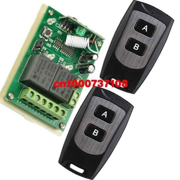 Envío 12 V 2CH RF interruptor de la puerta del coche controlador de casa intelig