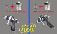 Black Version 5000HVLP v.s 5500 LVLP Pistol environmental protection spray gun w/t tank car paint spray Sprayer gun Free PPS