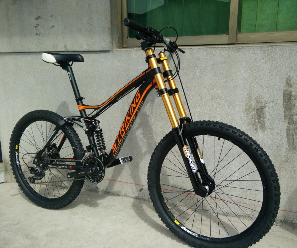 DH bicycle 190mm travel frame Full suspension 27.5inch ...