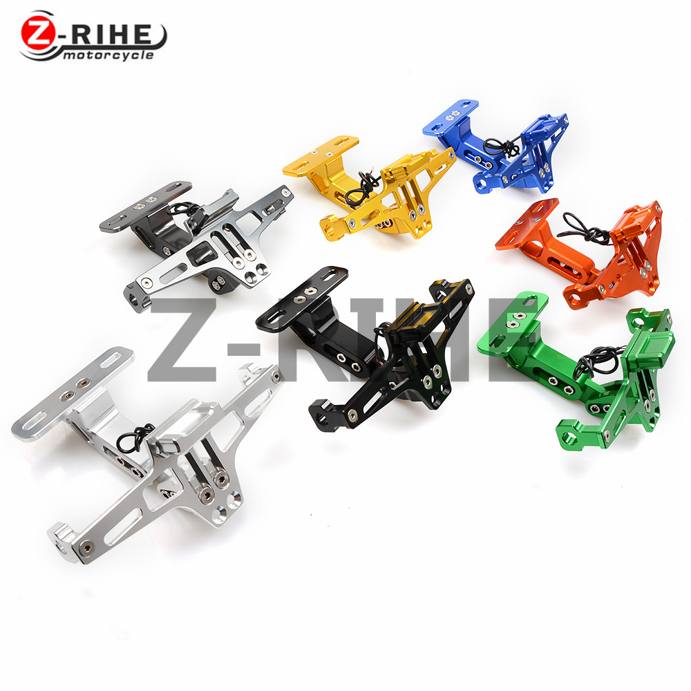 FOR motorcycle aluminum Universal Fender Eliminator License Plate Bracket Ho Tidy Tail For YAMAHA FZR1000 EXUP FZR 1000 EXUP 199 for suzuki gsx r600 k6 motorcycle fender eliminator license plate bracket tail tidy tag rear for suzuki gsxr750 k6 2006 2007