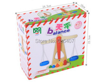 Wooden chessboard balance weights,Baby wooden toys
