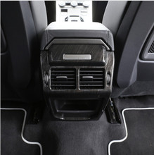 цена на For Land Rover Range Rover Evoque Dark wood grain Car Interior Accessories Rear Air Conditioning Vent Cover Frame Trim Stickers