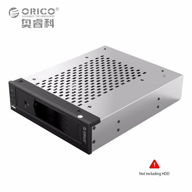 Titular de la Unidad de Disco Duro interno de 5.25 a 3.5 en SATA Convertidor HDD Mobile Rack para 5.25 CD-ROM Ranura Herramienta Inoxidable Libre de acero