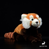 Kawaii Soft Toy Red Panda Dolls Real Life Plush Raccoon Doll Toys Birthday Gifts Rare