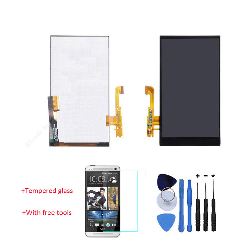 ФОТО New 100% Test LCD Touch Screen Digitizer Assembly For HTC One E8 Black With Free Tools + Tempered Glass