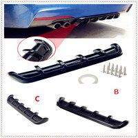 ABS coche trasero Shark Fin estilo curvado parachoques difusor de labio para Ford C-MAX Flex B-MAX Atlas Five FG F-350 F-250 e-series