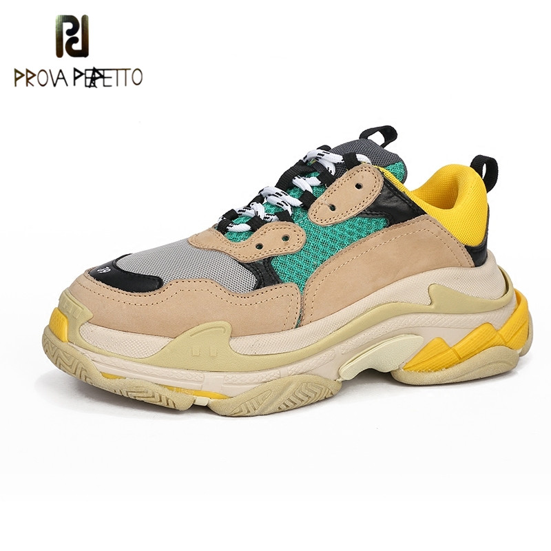 Prova Perfetto Platform Sneakers Women and Men Shoe Laces Increased Sneakers Fashion Celebrity Street Dad Shoes