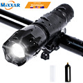 E17 T6 8000LM Aluminum Waterproof 5 Mode Zoom LED Flashlight Torch Bike Light for Cycling Safety Flashlights NO Battery