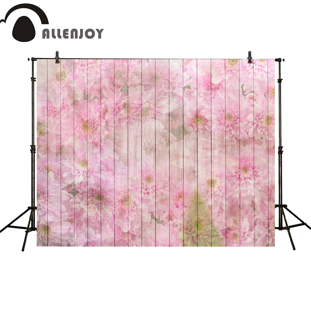 Allenjoy photography backdrop pink flower girls wood wall baby wedding photo studio props photobooth photocall edt 2 1 5m fantastic pink flower street studio photography props backdrop background