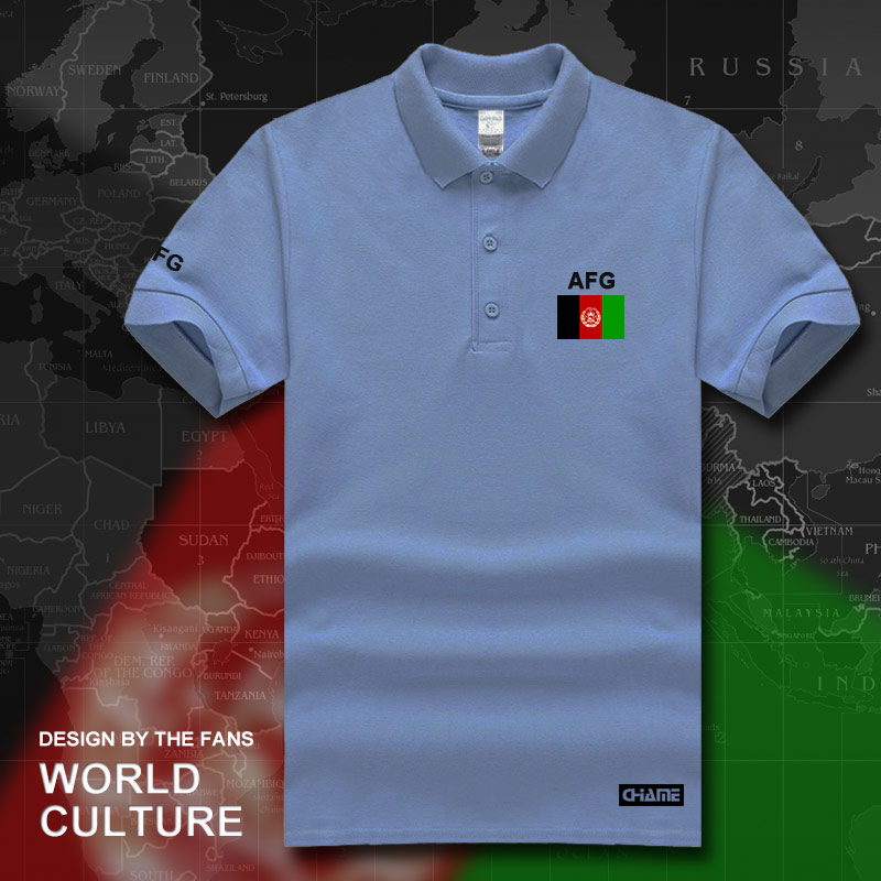 Afghanistan Afghan   polo   shirts men short sleeve white brands printed for country 2017 cotton nation team flag AFG Islam Pashto