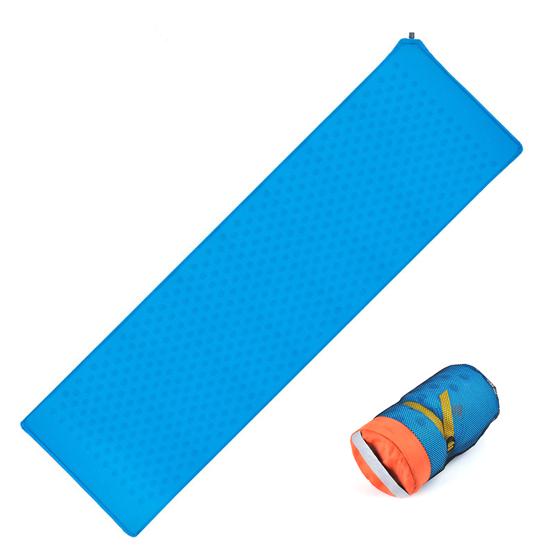 Outdoor automatic Inflatable Cushion Sleeping Bag Mat Fast Filling Air Moistureproof Sponge Camping Mat Sleeping Pad-in Camping Mat from Sports & Entertainment    1
