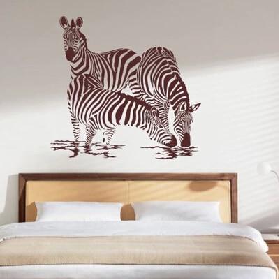 Énorme Zebra vinyle Wall Decal Sticker Art Mural accueil murale pour ...