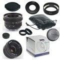 Boa 25mm f/1.4 mirroless para aps-c adaptador de câmera nikon 1 samsung nx + c-nikon1 + capa de lente + macro tampa traseira da lente anel * 2 + para nikon 1