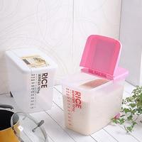 1pcs Kitchen Plastic Sealed Food Storage Box Storage Pot Rice Bucket Grains Cereals Plastic Barrel Food Storage Sealing Barrel