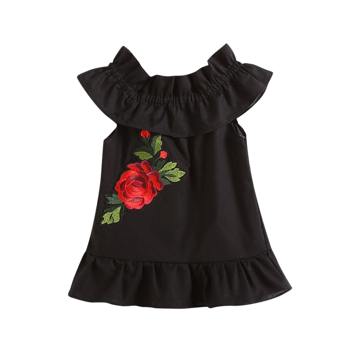 Sweet Newborn Infant Baby Girl Clothes Flower Short Sleeve Dresses Summer Dress Sundress