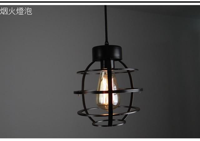 Retro Style Loft Pendant Light Personality Wrought Iron Lighting Coffee Bar Art