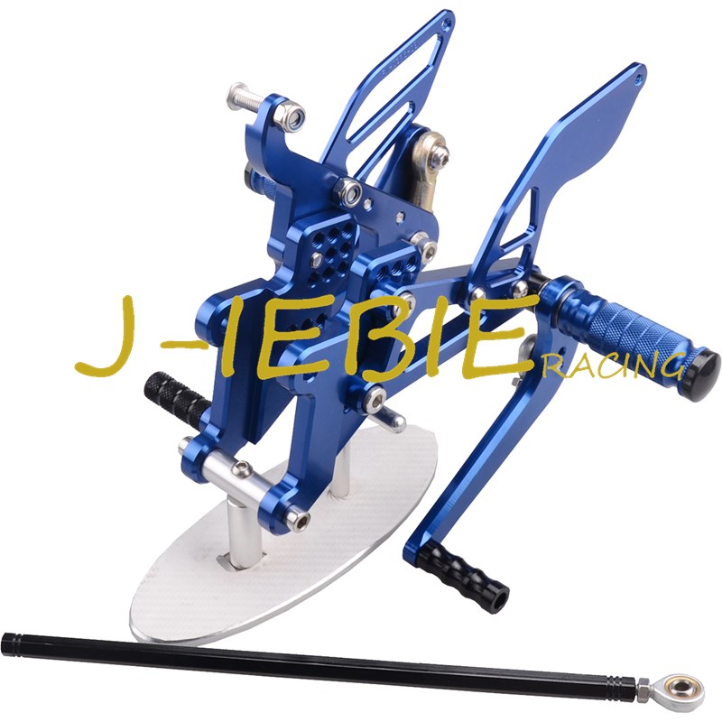 CNC Racing Rearset Adjustable Rear Sets Foot pegs Fit For Yamaha YZF R6 2003 2004 2005 R6S 2006 2007 2008 2009 BLUE cnc long adjustable racing clutch brake levers for yamaha yzf r1 2004 2005 2006 2007 2008