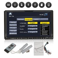 Double Din In Dash 7 Car DVD Player Stereo Radio Audio Motorized Touchscreen LCD Monitor Car